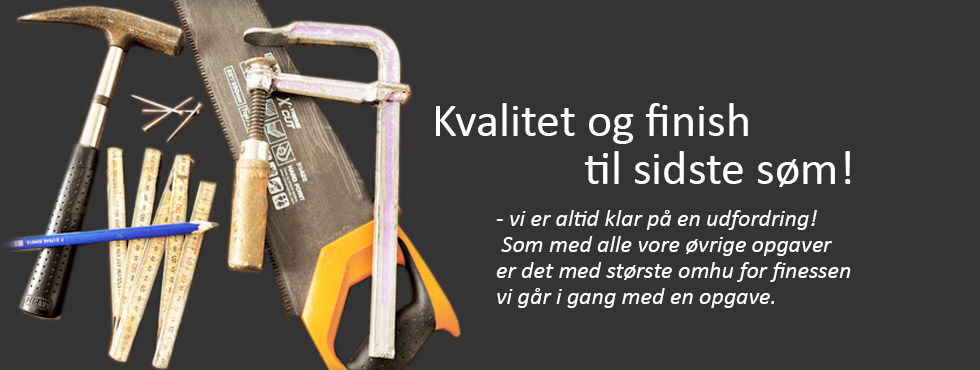 Kvalitet og finish